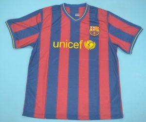 Shirt Front, Barcelona 2009-2010 Home Short-Sleeve