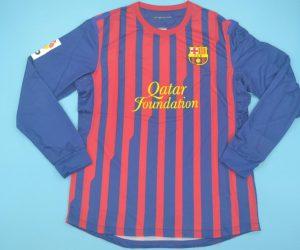 Shirt Front, Barcelona 2011-2012 Home Long-Sleve
