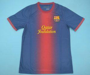 Shirt Front, Barcelona 2012-2013 Home Short-Sleeve