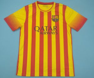 Shirt Front, Barcelona 2013-2014 Away Catalonia Colors Short-Sleeve