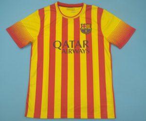 Shirt Front, Barcelona 2013-2014 Away Catalonia Colors Short-Sleeve