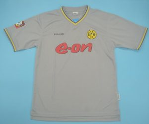 Shirt Front, Borussia Dortmund 2000-2001 Away Gray Short-Sleeve