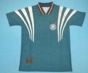 Shirt Front, Germany 1996-1998 Away Green Short-Sleeve