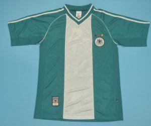 Shirt Front, Germany 1998 Away Green Short-Sleeve