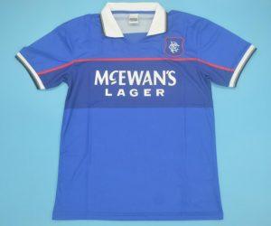 Shirt Front, Rangers 1997-1999 Home Short-Sleeve