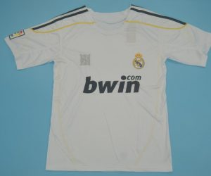 Shirt Front, Real Madrid 2009-2010 Home Short-Sleeve