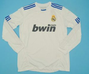 Shirt Front, Real Madrid 2010-2011 Home Long-Sleeve Kit