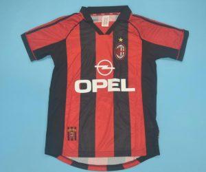 Shirt Front, AC Milan 1998-2000 Home Short-Sleeve