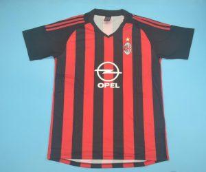 Shirt Front, AC Milan 2002-2003 Home Short-Sleeve