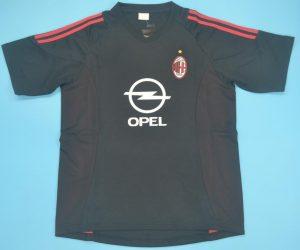 Shirt Front, AC Milan 2002-2003 Third Black Short-Sleeve