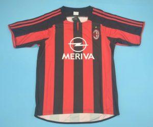 Shirt Front, AC Milan 2003-2004 Home Short-Sleeve