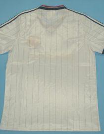 Shirt Back Blank, Manchester United 1983 Away White Charity Shield Final Short-Sleeve