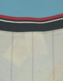Shirt Collar Back, Manchester United 1983 Away White Charity Shield Final Short-Sleeve