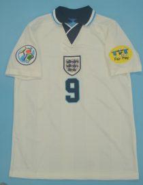 Gascoigne Nameset Front, England 1996 Home Short-Sleeve