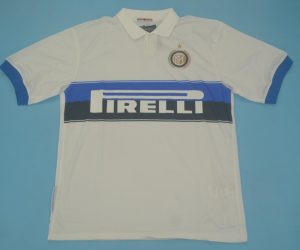 Shirt Front, Inter Milan 2009-2010 Away White Short-Sleeve Kit