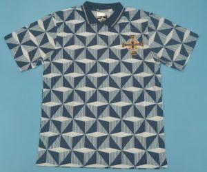 Shirt Front, Northern Ireland 1990-1993 Away Short-Sleeve