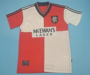 Shirt Front, Rangers 1995-1996 Away Short-Sleeve