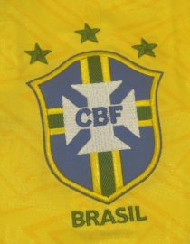 Shirt Brazil Emblem, Brazil 1991-1993 Home Short-Sleeve
