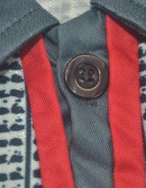 Shirt Collar Front Closeup, Manchester United 1995-1996 Away Short-Sleeve