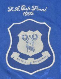 Shirt Everton Emblem, Everton 1995 FA Cup Final Home Short-Sleeve