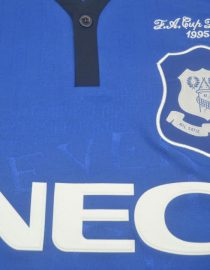 Shirt NEC Imprint, Everton 1995 FA Cup Final Home Short-Sleeve