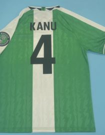 Kanu Nameset, Nigeria 1996-1998 Home Short-Sleeve