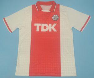 Shirt Front, Ajax Amsterdam 1988-1990 Home Short-Sleeve