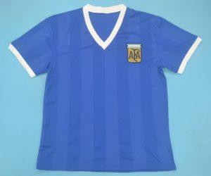 Shirt Front, Argentina 1986 Away Short-Sleeve Kit