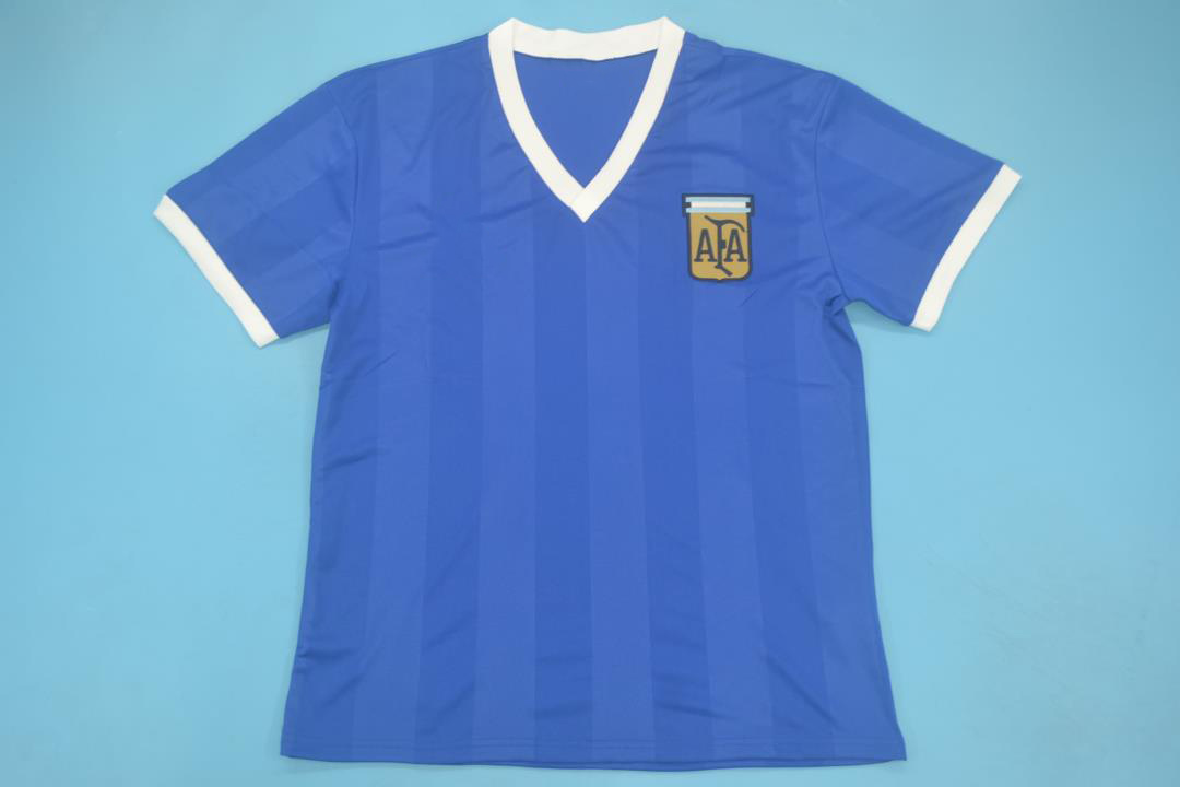Argentina 1986 Away Short Sleeve Football Shirt [As worn by Maradona, Burruchaga & Borghi]