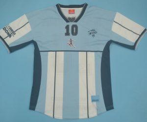 Shirt Front, Argentina 2001 Maradona Special Edition Short-Sleeve Kit