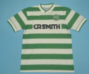 Shirt Front, Celtic Glasgow 1985-1987 Home Short-Sleeve