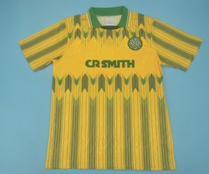 Shirt Front, Celtic Glasgow 1989-1991 Away Short-Sleeve