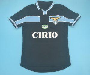 Shirt Front, Lazio 1998-2000 Third Black Short-Sleeve Kit