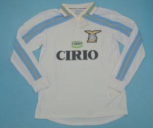 Shirt Front, Lazio 1999-2000 Away Centenary Long-Sleeve Kit