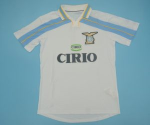 Shirt Front, Lazio 1999-2000 Away Centenary Short-Sleeve Kit