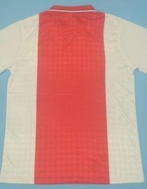 Shirt Back Blank, Ajax Amsterdam 1988-1990 Home Short-Sleeve