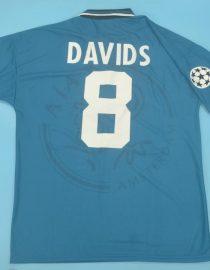Davids Nameset, Ajax 1995-1996 Away Short-Sleeve