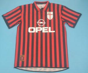Shirt Front, AC Milan 1999-2000 Home Centenary Short-Sleeve Kit