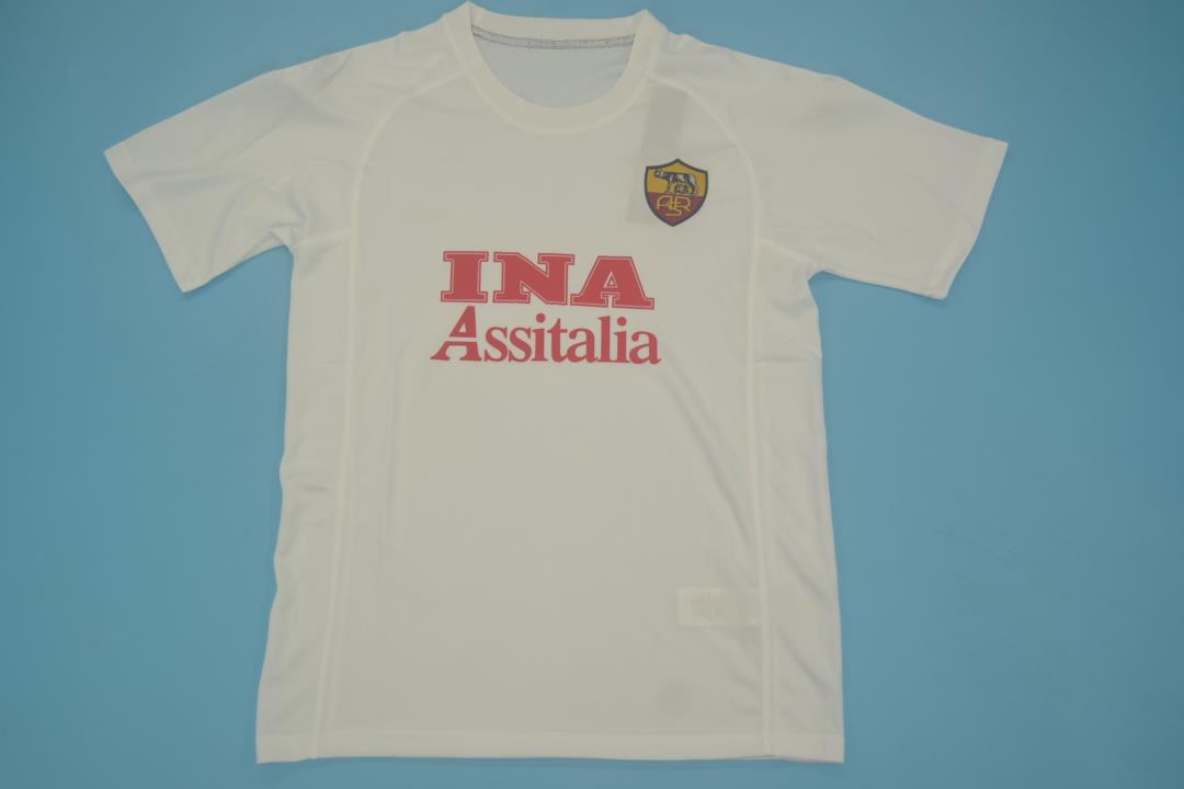 AS Roma 2000-2001 Away Short Sleeve Football Shirt [As worn by Batistuta, Montella & Totti]