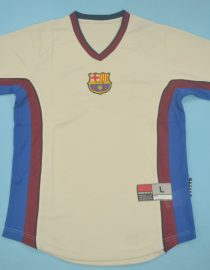 Shirt Front, Barcelona 1999-2000 Away Grey Short-Sleeve