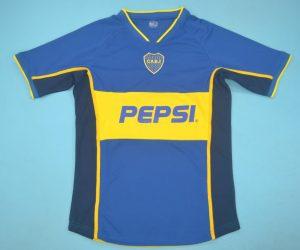 Shirt Front, Boca Juniors 2002 Home Short-Sleeve