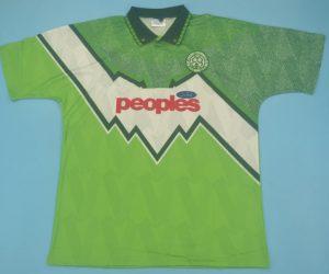 Shirt Front, Celtic 1991-1992 Away Short-Sleeve Jersey