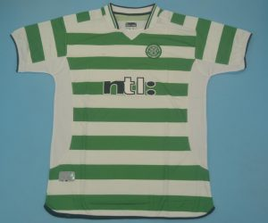 Shirt Front, Celtic Glasgow 2001-2003 Home Short-Sleeve Kit