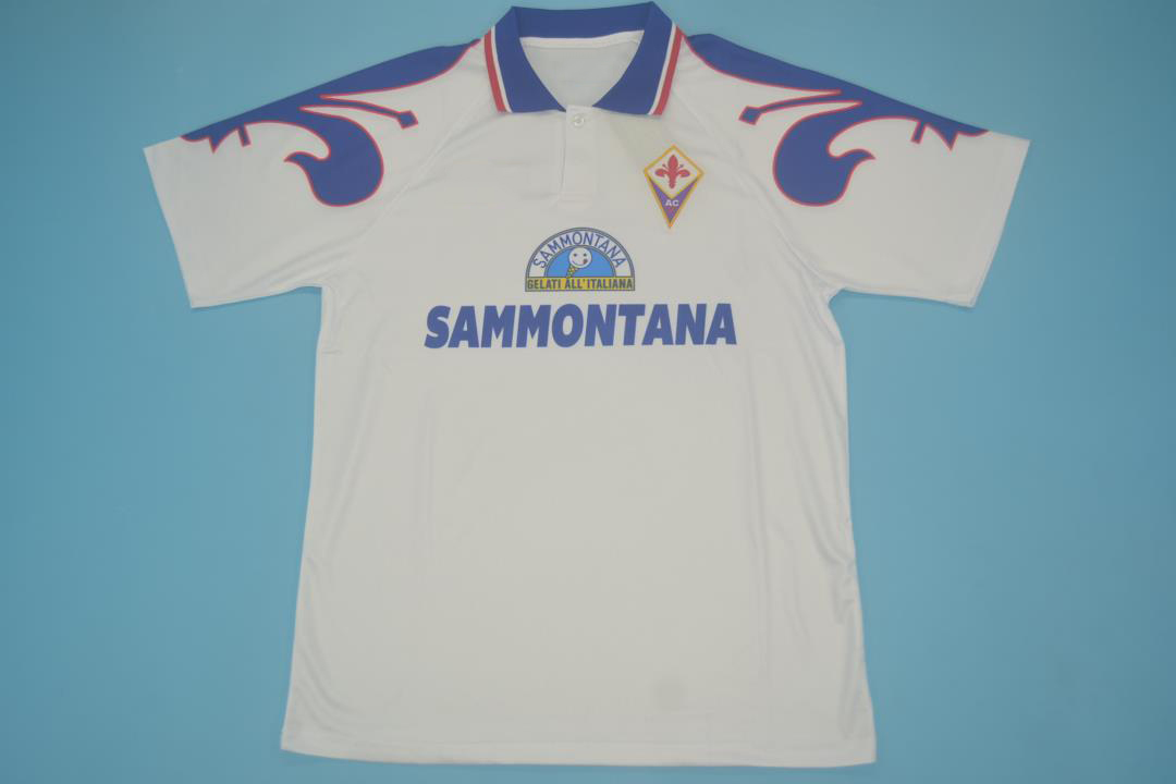 Fiorentina 1995-1996 Away Short Sleeve Football Shirt [As worn by Baiano, Batistuta & Rui Costa]