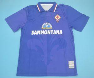 Shirt Front, Fiorentina 1995-1996 Home Short-Sleeve