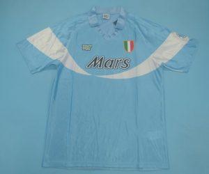 Shirt Front, Napoli 1990-1991 Home Short-Sleeve Kit