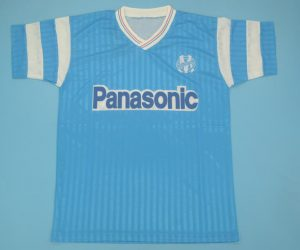 Shirt Front, Olympique Marseille 1990-1991 Away Short-Sleeve Jersey