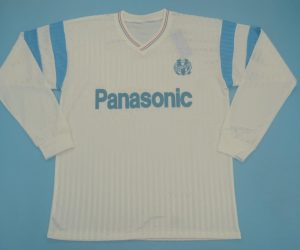 Shirt Front, Olympique Marseille 1990-1991 Home Long-Sleeve Jersey