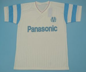 Shirt Front, Olympique Marseille 1990-1991 Home Short-Sleeve Jersey