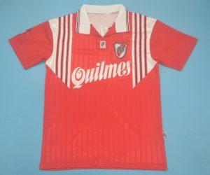 Shirt Front, River Plate 1995-1996 Away Short-Sleeve Kit